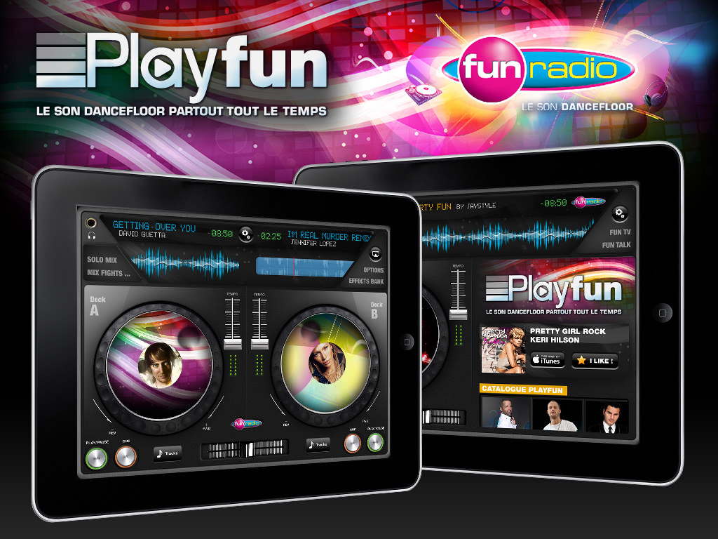 Application Fun radio sur iPad - Ergonomie UX & Design - Kermitklein.com | Tapptic