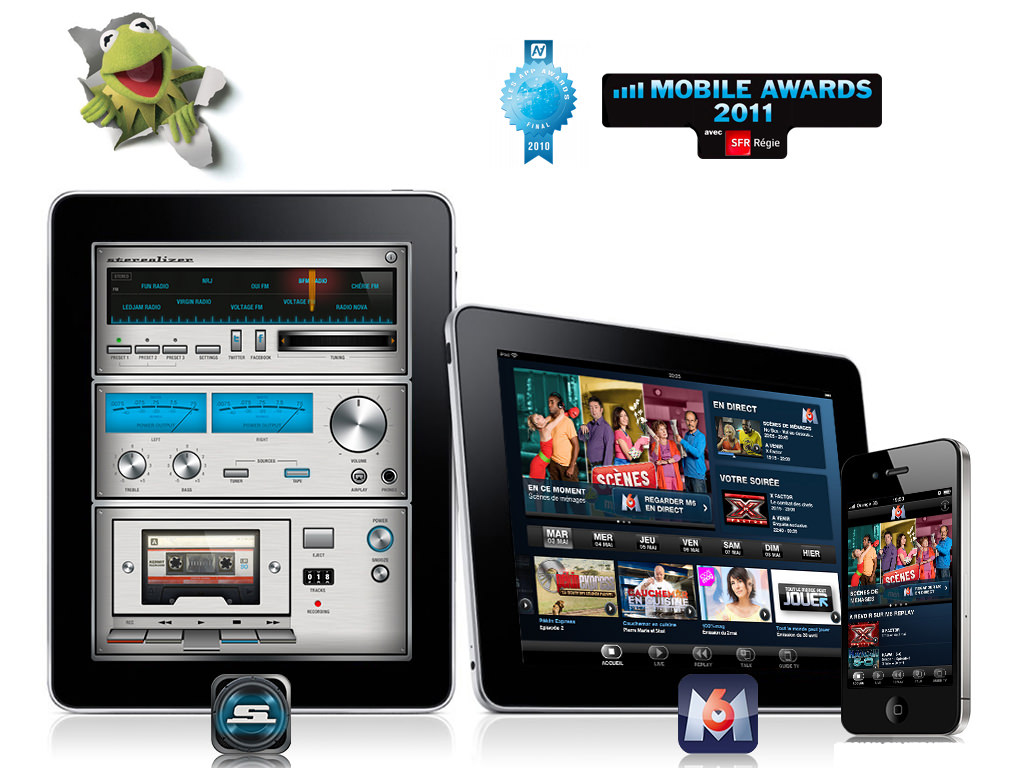 Stereolizer et M6 ipad et iPhone récompensés aux Mobile Awards 2011 Design by Kermitklein.com