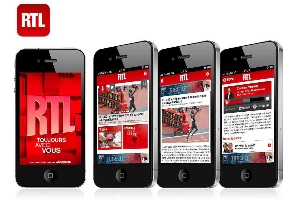 RTL iPhone ( Direction Artistique )