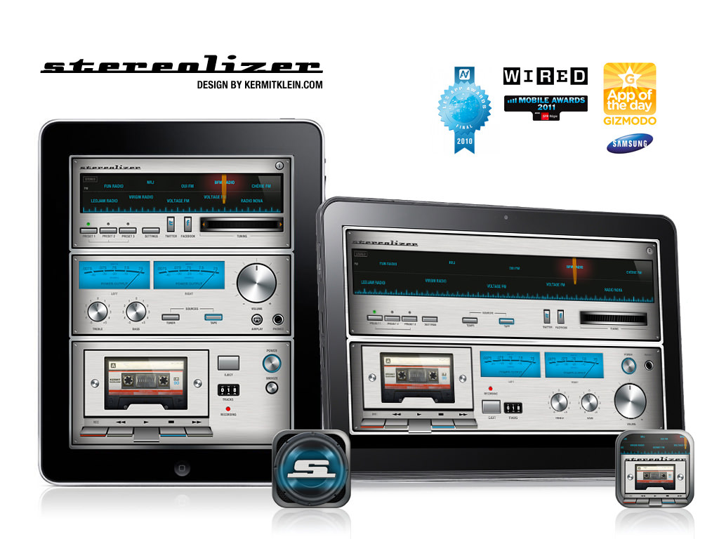 Stereolizer iPad est disponible sur l'Appstore iPad - www.stereolizer.com - Design by Kermitklein.com